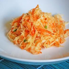 Салат из редьки и квашеной капусты