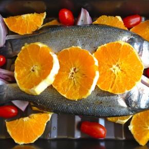 Сибас с апельсинами