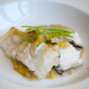 Рыба кинг-клип с рукколой